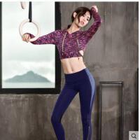 健身房运动套装女休闲显瘦时尚韩版瑜伽跑步运动服两件套