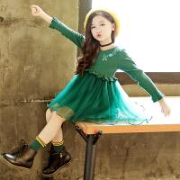 女童连衣裙秋冬装儿童韩版针织毛衣裙女孩长袖公主裙洋气