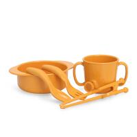 米仔玉米儿童训练餐具五件套 碗筷子勺子叉子水杯