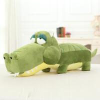 创意鳄鱼公仔抱枕毛绒玩具大号儿童玩偶靠垫生日礼物男女生