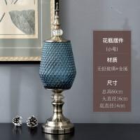 欧式玻璃花瓶摆件客厅插花大号电视柜餐桌花艺美式复古家居装饰品