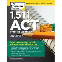 现货英文原版ACT考试 1511个练习 习题册 6版 1,471 ACT Practice Questions, 6th