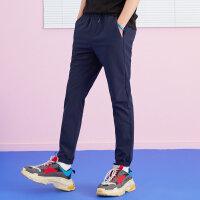 【1件3折到手价:52.5】美特斯邦威休闲裤男士冬装新款弹力复合防风保暖跑裤商场款