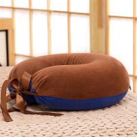 U型枕乳胶枕旅行枕头脖子午睡u形记忆枕 栗色 水晶绒拼接款