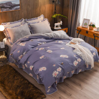 新品秒杀韩版珊瑚绒四件套加厚法莱绒法兰绒裙床单被套1.5/1.8m床上用品冬