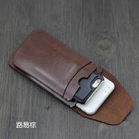双手机包iphone6S双机皮套7plus苹果8plus保护套手机包袋直插竖款 路易棕 大子母款
