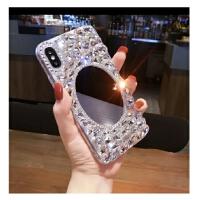 华为p30pro手机壳奢华水钻带镜子mate10pro硅胶全包保护套女新款 p30 白宝石镜子