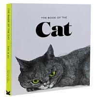 英文原版 猫之书:猫的艺术 插画绘画画集 The Book of the Cat: Cats in Art 猫手绘书 绘