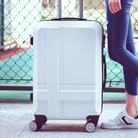 学生行李箱万向轮拉杆箱旅行箱包小密码箱子皮箱20/24/28寸男女 白色 20寸经典款(十字架)