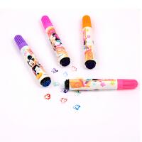 ?印章水彩笔36色套装儿童幼儿园可水洗彩色涂画笔24色学生用? 2_24色 蓝 图案随机