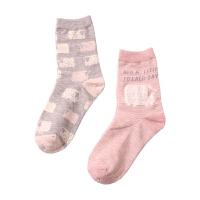 秋冬袜子学生日系韩国卡通故事长袜女士甜美可爱中筒 2双礼盒 均码