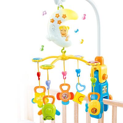 优乐恩 月亮宝宝音乐旋转床铃床挂 初生宝宝儿童益智摇铃牙胶婴儿玩具0-1岁益智玩具限时钜惠