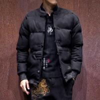 唐装中山装汉服男青年修身中国风冬季外套民国棉衣男装古装潮