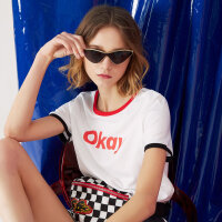 美特斯邦威情侣款短袖T恤女夏季新款韩版半袖衫学生百搭潮9