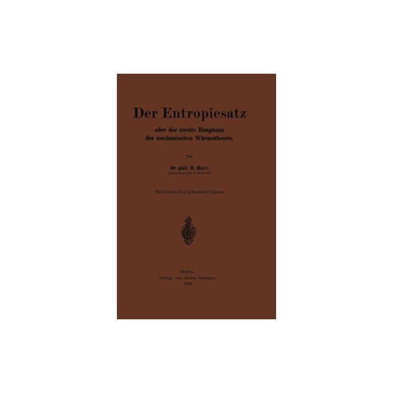 【预订】Der Entropiesatz Oder Der Zweite Hauptsatz Der Mechanischen... 9783642898846 美国库房发货,通常付款后3-5周到货!