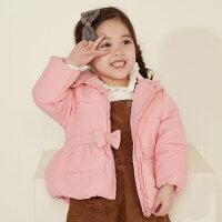 【1件3折到手价:86.97】美特斯邦威旗下moomoo童装女婴童中长款多彩夹棉外套女幼童冬季棉服小宝宝上衣