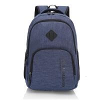男士双肩包男帆布旅行背包电脑包韩版高中生大学生书包男时尚潮流