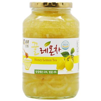 全贤 蜂蜜柠檬茶1kg 韩国原装进口果肉含量51% 蜜炼果酱饮料