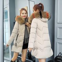 2018新款棉袄女韩版修身中长羽绒女冬天学生加厚外套女bf
