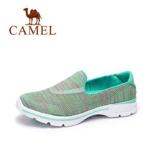 Camel 骆驼女鞋2018新款轻便鞋女懒人平底单鞋夏网鞋透气休闲鞋运动鞋女