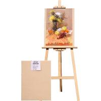 实木画架木制 多功能油画架素描画架儿童美术画具 1.7米画板画架套装4开绘画写生素描4k画板支架式