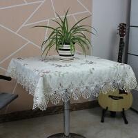 方桌布布艺家用现代田园小清新正方形桌布布八仙桌麻将桌台布桌垫 黄