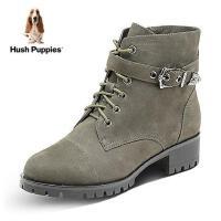 Hush Puppies/暇步士2017年冬季专柜同款牛皮时尚休闲女皮靴P1B01DD7