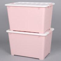 衣柜整理箱装衣服的收纳箱塑料加厚有盖大号特衣物储物盒箱子家用