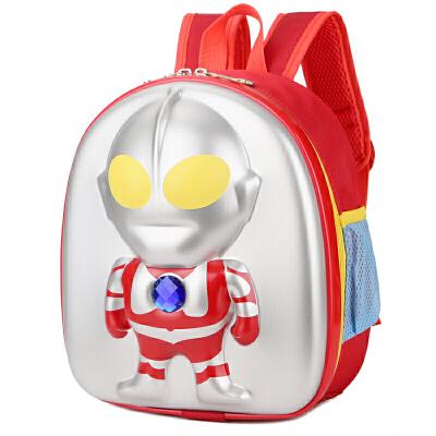奥特曼超人小号3D立体书包 小宝宝3-4-5岁男童男孩迪迦背包