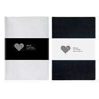 卡杰情侣本清新笔记本文具约计划记录本创意记事本恋爱日记本子 两本装(+)