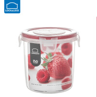乐扣乐扣保鲜盒塑料水果密封带饭微波炉饭盒食品收纳盒套装 580ml圆型【红色】 NLP311R