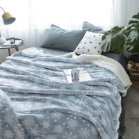 双层加厚珊瑚绒毯子冬季保暖羊羔绒法兰绒双人单人午睡小毛毯被子