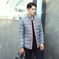 格子保暖衬衫男加绒加厚秋冬季羽绒男士衬衣青年修身韩版外套