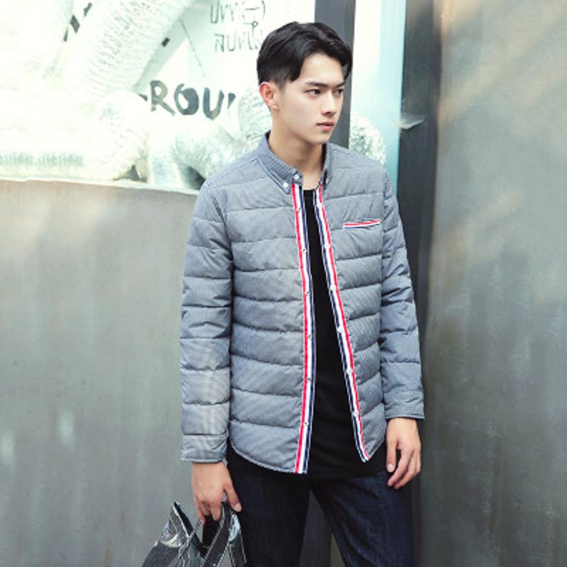 格子保暖衬衫男加绒加厚秋冬季羽绒男士衬衣青年修身韩版外套 发货周期:一般在付款后2-90天左右发货,具体发货时间请以与客服协商的时间为准