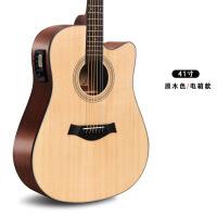 ?40 40 41寸沙比利亮光木民谣木吉他初学者单板琴学生新手入门吉它