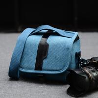 微单相机包微单反包长焦单肩摄影包 天蓝色