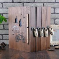 高档复古木盒密码锁同学录学生留言本创意唯美毕业纪念册通讯录