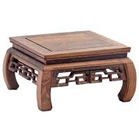 工艺品摆件实木长正方形底座紫砂茶壶石头花盆景托架子