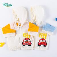 【3件3折到手价:70.8】迪士尼Disney童装 男童防晒衣户外防风防晒服夏季新品海边休闲服轻薄透气儿童上衣