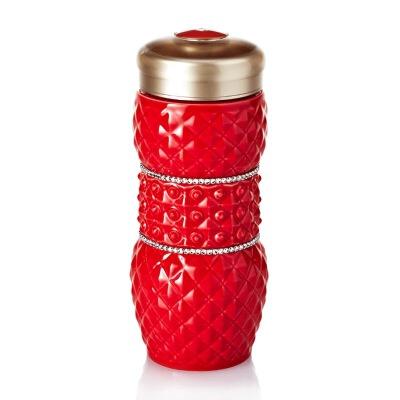 乾唐轩活瓷 吉星亮石随身杯双层 陶瓷水杯子创意带盖商务礼品女士