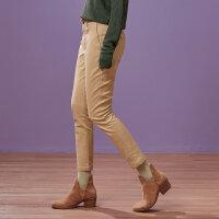 【全场2件2.5折,到手价:74.8】美特斯邦威秋装新款休闲裤女修身小脚百搭萝卜裤都市显瘦
