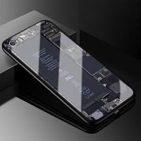 苹果5s玻璃手机壳iPhone5保护套苹果5se防摔硅胶全包边简约情侣潮