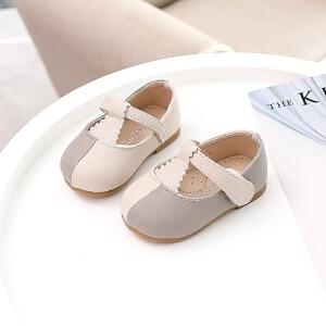 女宝宝1-3岁公主鞋婴儿春秋季软底防滑学步鞋女童休闲透气小皮鞋2