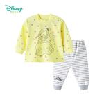 【2.6折价:46.02】迪士尼Disney 儿童卡通衣服婴幼新生儿春秋新品长袖套装家居服183T802