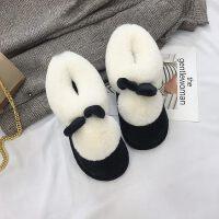 棉拖鞋女包跟居家室内月子鞋厚底防滑保暖毛毛拖鞋冬天室外棉鞋女