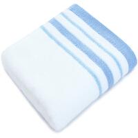 [当当自营]三利 纯棉素色缎档毛巾1条白色 33×72cm 柔软吸水洗脸面巾