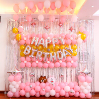 家居生活用品12岁女童过生日气球布置 儿童 十岁主题女孩派对背景墙小公主