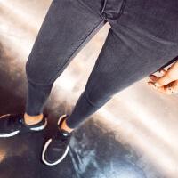 托腹孕妇裤子春秋潮妈孕妇牛仔裤春季2018新款孕妇打底九分裤长裤