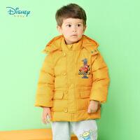 迪士尼Disney宝宝羽绒服加厚保暖风衣带帽羽绒大衣中长款164S842