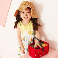 【5.16-5.17日抢购价:29.9】moomoo网红女童装洋气裙子夏装新款女小童宝宝假两件小清新背心裙